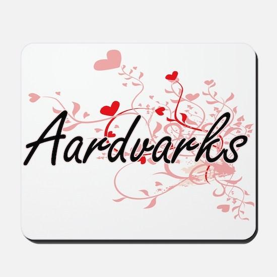 Aardvarks Heart Design Mousepad