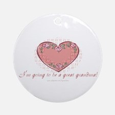 Great Grandma 2 Be Ornament (Round)