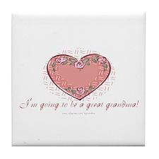 Great Grandma 2 Be Tile Coaster