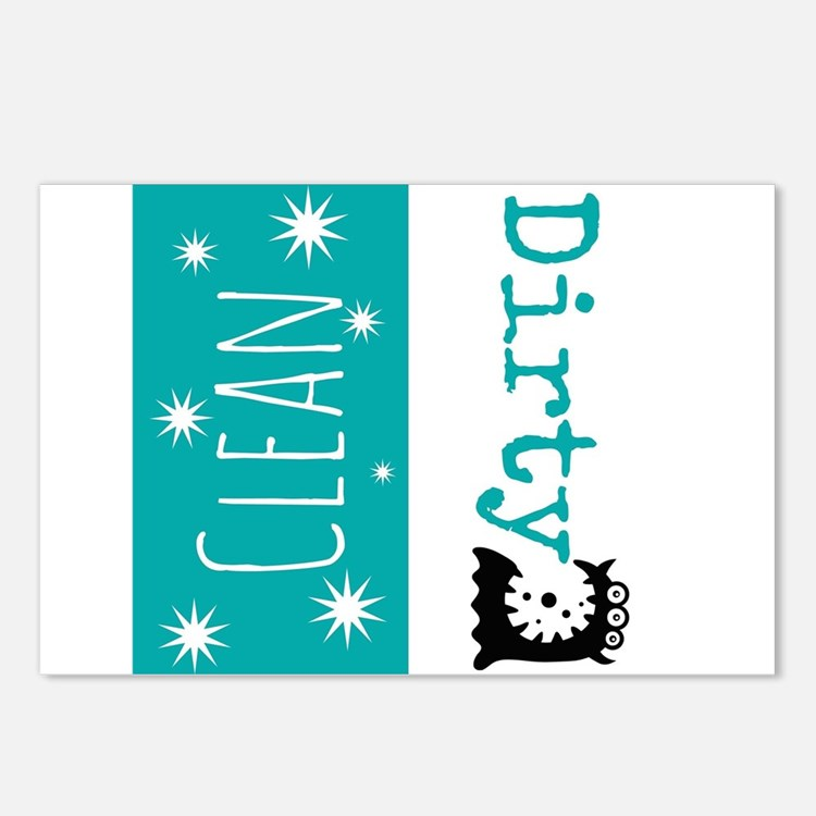 Clean Dirty Postcards (Package of 8)