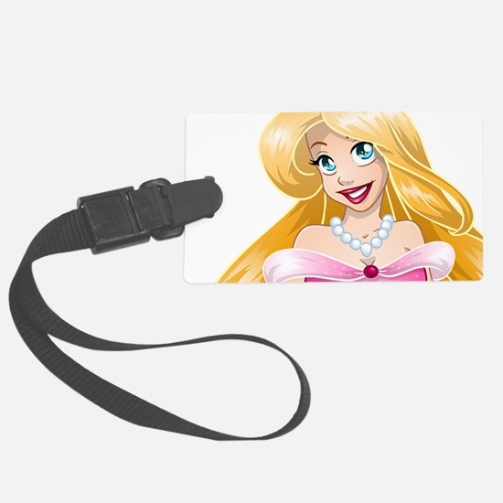 Blond Princess In Pink Dress Luggage Tag