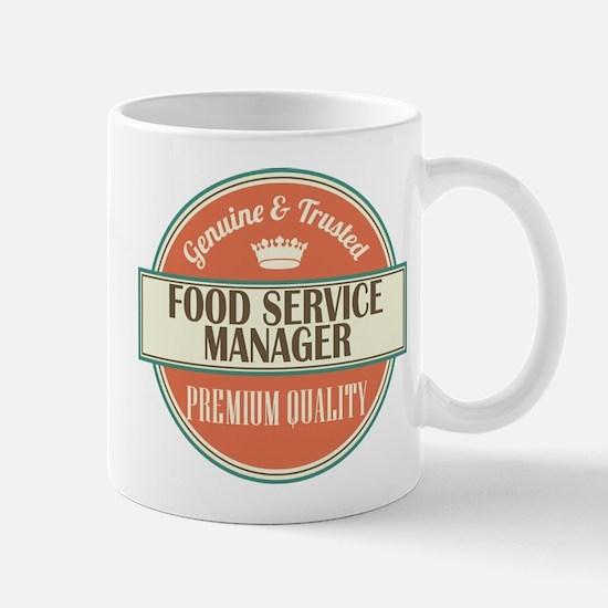 food service manager vintage logo Mug