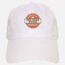 food service manager vintage logo Baseball Baseball Cap
