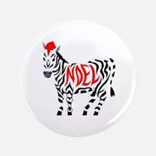Christmas Noel Zebra Button