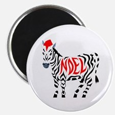 Christmas Noel Zebra Magnets