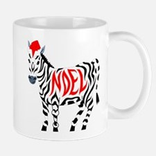 Christmas Noel Zebra Mugs