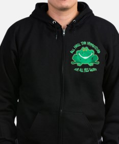 Hail The Hypnosis Frog For All H Zip Hoodie
