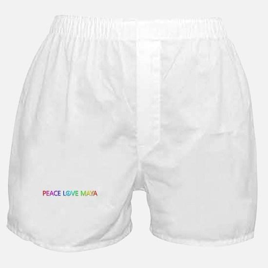 Peace Love Maya Boxer Shorts