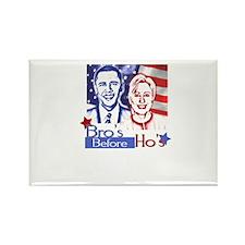 Bros Before Hos (Barak Obama, Rectangle Magnet