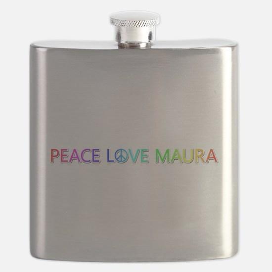 Peace Love Maura Flask
