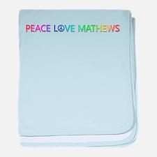 Peace Love Mathews baby blanket