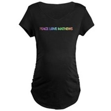 Peace Love Mathews Maternity T-Shirt