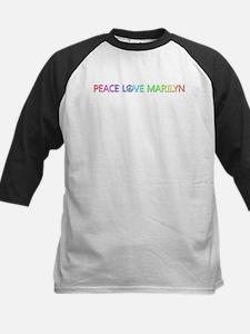 Peace Love Marilyn Baseball Jersey