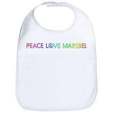 Peace Love Maribel Bib