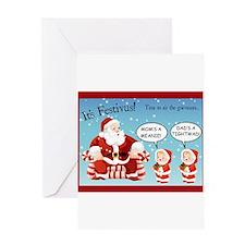 Cute Kids christmas Greeting Card