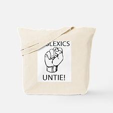 Dyslexics Untie Tote Bag
