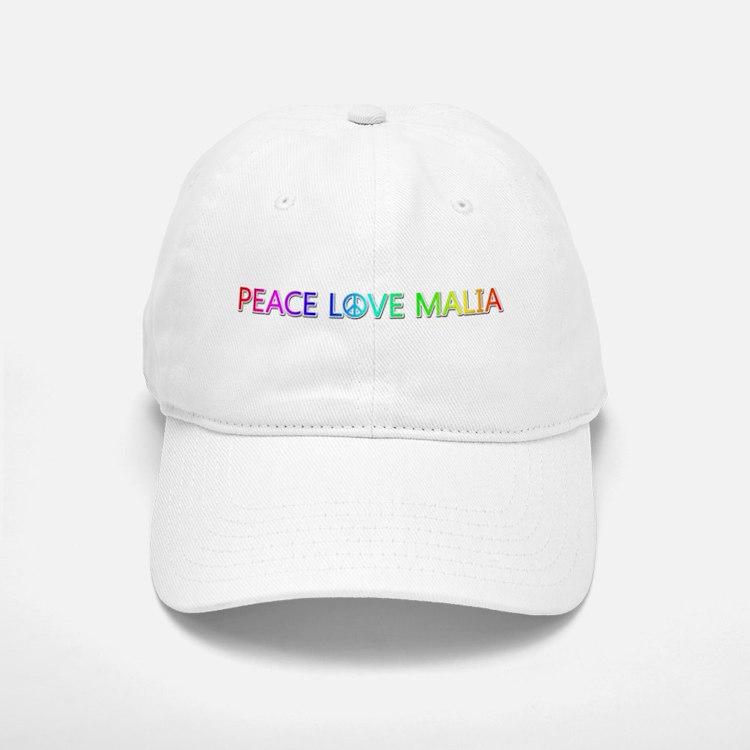 Peace Love Malia Baseball Baseball Baseball Cap