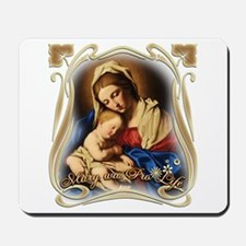 Mary was Pro-Life (square) Mousepad