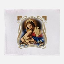 Mary was Pro-Life (square) Throw Blanket