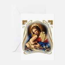 Mary was Pro-Life (square) Greeting Cards