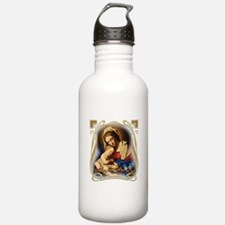 Mary was Pro-Life (squ Water Bottle