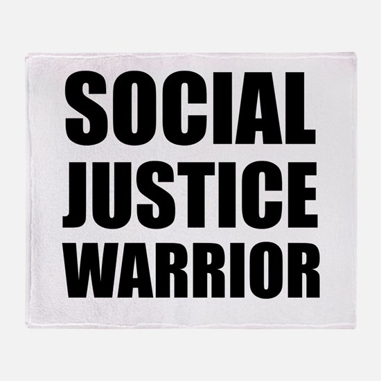 Social Justice Warrior Throw Blanket