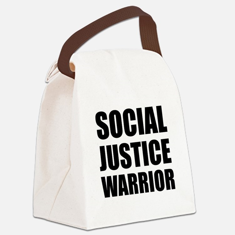 Social Justice Warrior Canvas Lunch Bag