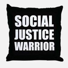 Social Justice Warrior Throw Pillow