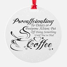 Procaffeinating Black Ornament