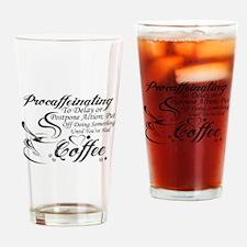 Procaffeinating Black Drinking Glass