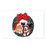 Christmas pet wreath Postcards (Package of 8)