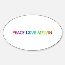 Peace Love Melvin Oval Decal