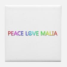 Peace Love Malia Tile Coaster