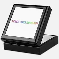 Peace Love Marlon Keepsake Box