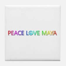 Peace Love Maya Tile Coaster