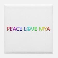 Peace Love Mya Tile Coaster