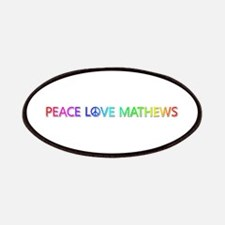 Peace Love Mathews Patch
