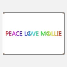 Peace Love Mollie Banner