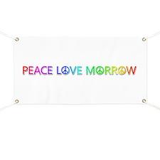 Peace Love Morrow Banner