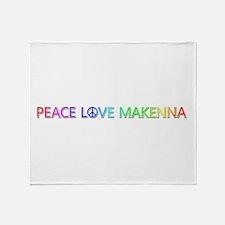 Peace Love Makenna Throw Blanket