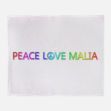 Peace Love Malia Throw Blanket