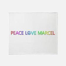 Peace Love Marcel Throw Blanket
