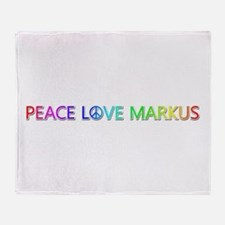 Peace Love Markus Throw Blanket