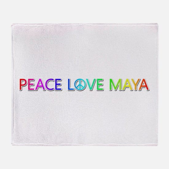 Peace Love Maya Throw Blanket