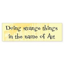 Strange Things Bumper Bumper Sticker
