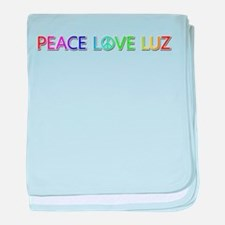Peace Love Luz baby blanket