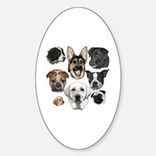 Funny Obey the labrador Sticker (Oval)