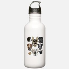 Dog collage Water Bottle