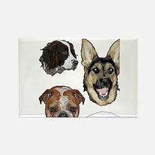 Dog collage Rectangle Magnet