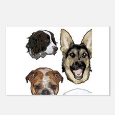 Dog collage Postcards (Package of 8)